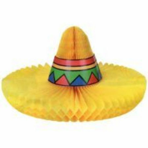 Fiesta Honeycomb Sombrero Table Decoration