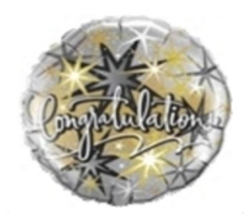 Congratulations Elegant Foil Balloon