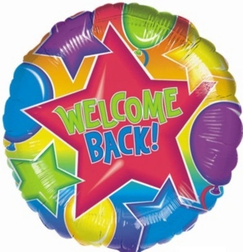 Welcome Back Foil Balloon