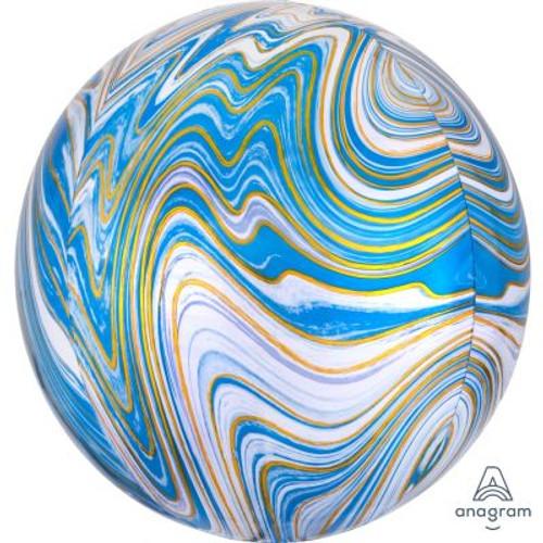 Blue Marblez Orbz Ultrashape Foil Balloon
