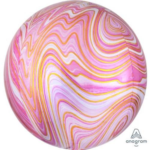 Pink Marblez Orbz Ultrashape Foil Balloon