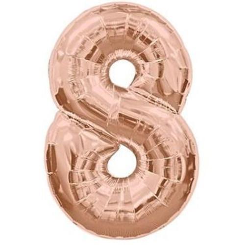 Number 8 Megaloon - Rose Gold
