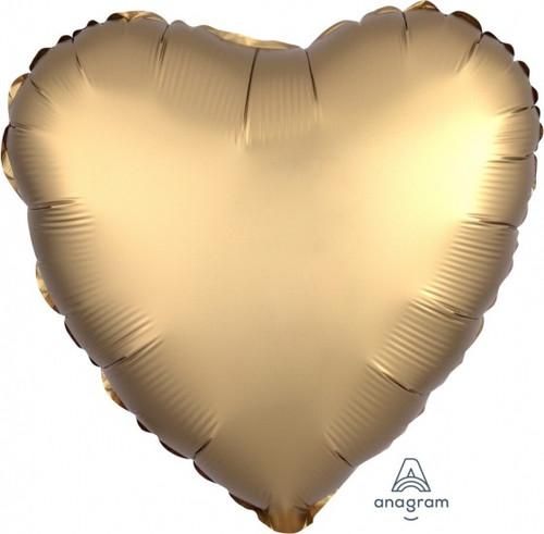 Heart Satin Luxe Gold Sateen Foil Balloon