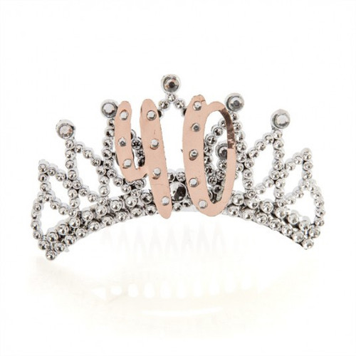 40th Rose Gold and Silver Tiara