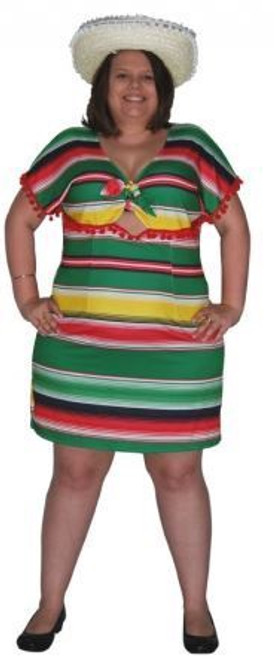 Mexican Dress Costume - XL
