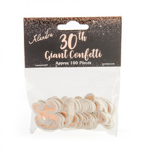 30th Rose Gold Giant Confetti