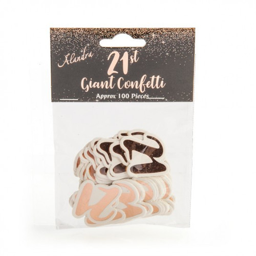 21st Rose Gold Giant Confetti