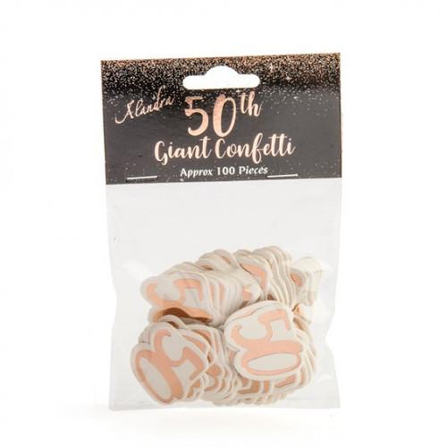 50th Rose Gold Giant Confetti