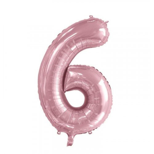 Number 6 Megaloon - Light Pink