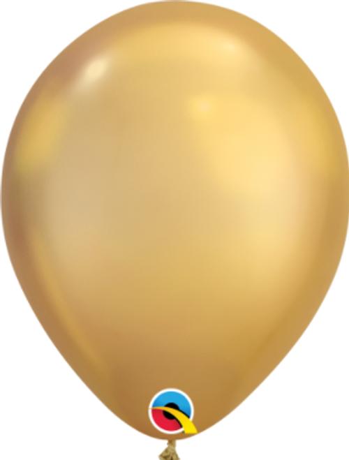 Chrome Gold 18cm Balloons - Pack of 100