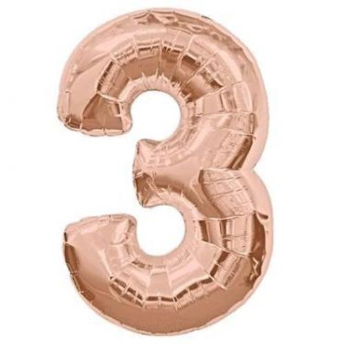 Number 3 Megaloon - Rose Gold