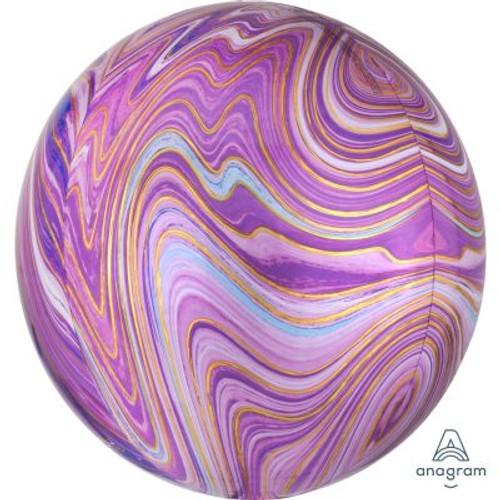 Purple Marblez Orbz Ultrashape Foil Balloon