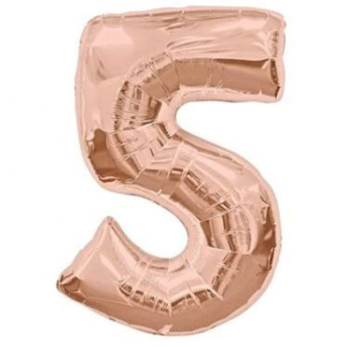 Number 5 Megaloon - Rose Gold