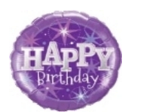 Birthday Purple Sparkle Balloon