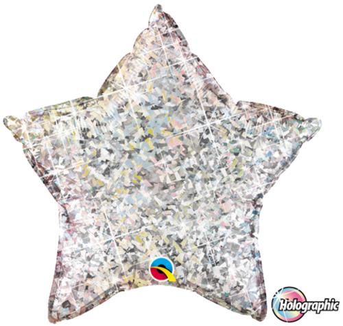 Star Holographic Silver Foil Balloon