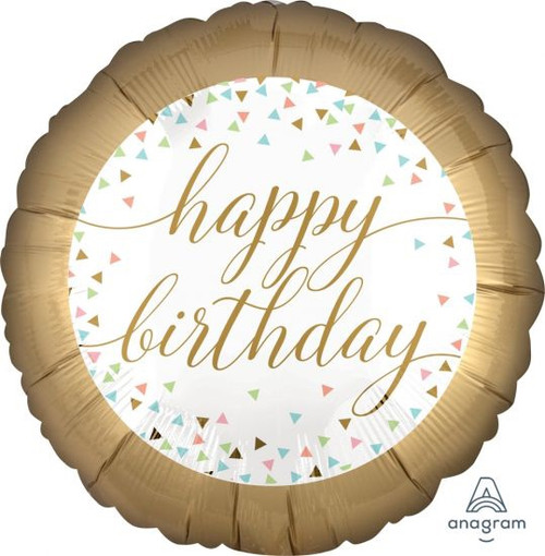 Pastel Confetti Birthday Foil Balloon