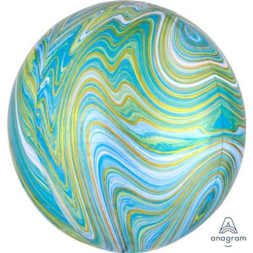 Green Marblez Orbz Ultrashape Foil Balloon