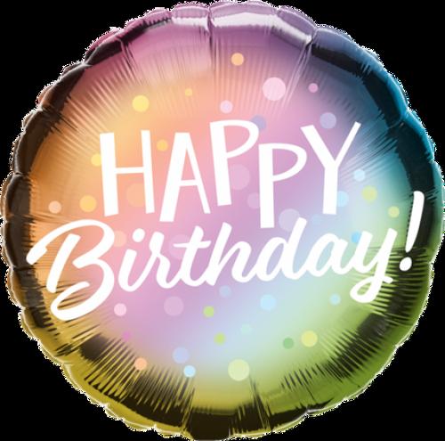 Birthday Metallic Ombre & Dots