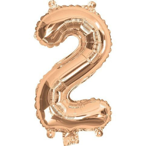 Rose Gold 16inch Number 2 Balloon