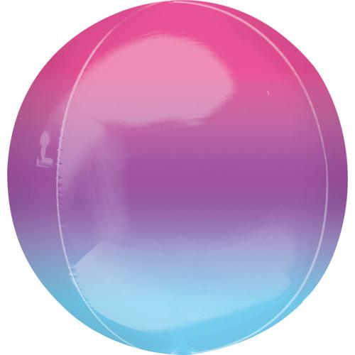 Ombré Purple & Blue Orbz Ultrashape Foil Balloon