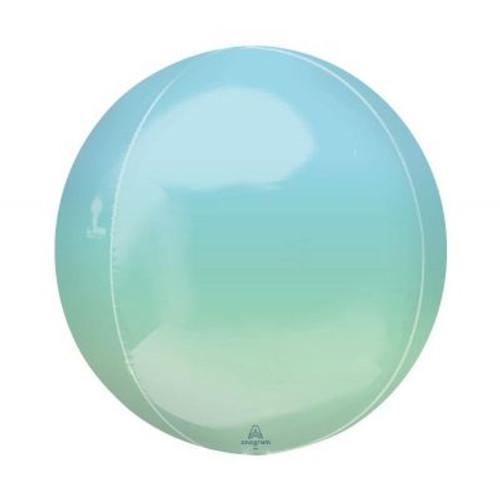 Ombré Blue & Green Orbz Ultrashape Foil Balloon