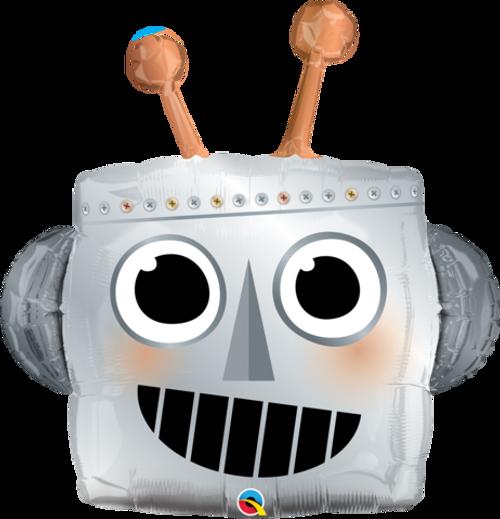 Robot Head Foil SuperShape Balloon