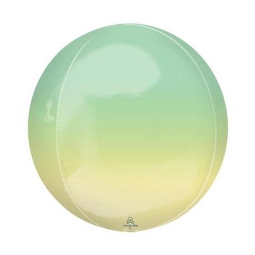 Ombré Yellow & Green Orbz Ultrashape Foil Balloon