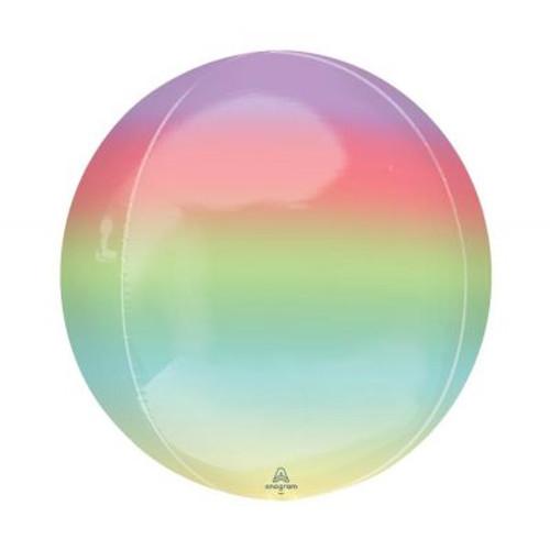 Ombré Rainbow Orbz Ultrashape Foil Balloon