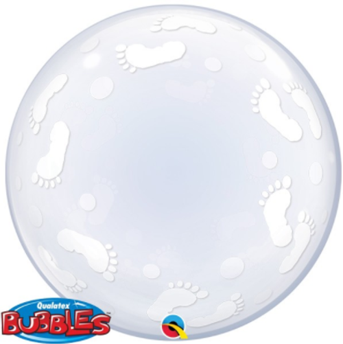 Baby Footprints Deco Bubble Balloon