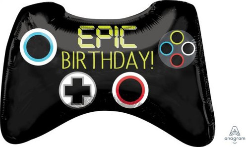 Epic Party Game Controller Supershape Foil Balloon