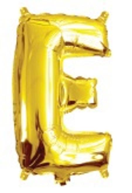 Gold 16inch Letter E Balloon2