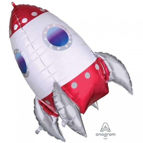 Rocket Ship Supershape Balloon