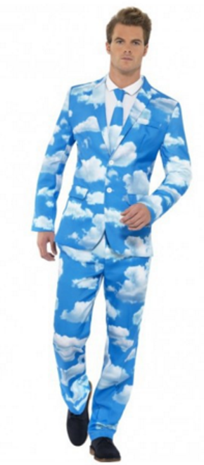 Stand Out Suit - Sky High - L