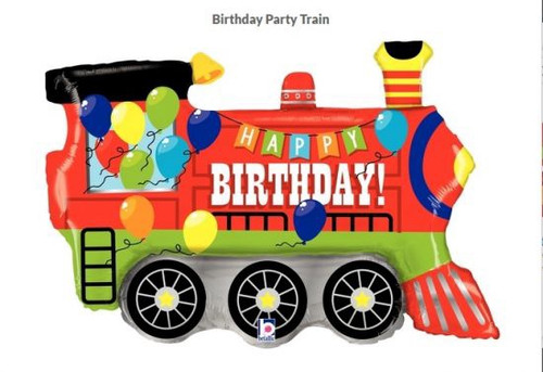 Birthday Party Train Supershape