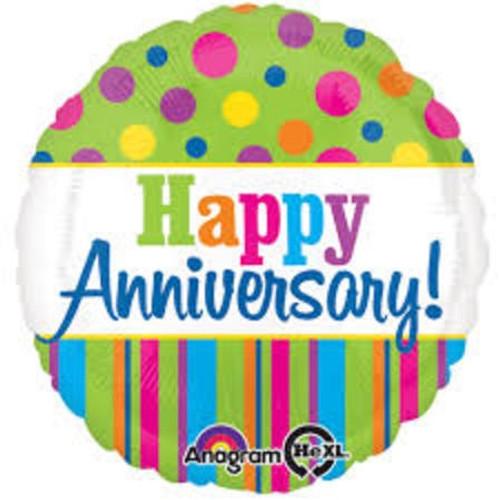 Happy Bright Anniversary Foil Balloon