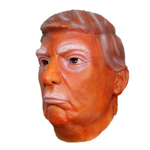 Orange Latex Trump Mask