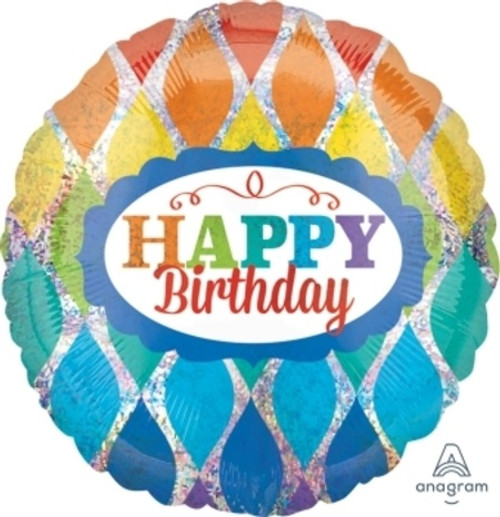 Birthday Sparkly Triangles Foil Balloon