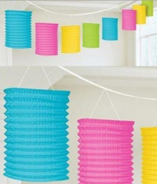Multi Coloured Paper Lantern Garland1