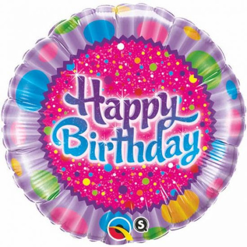 Birthday Sprinkles and Sparkles Foil Balloon