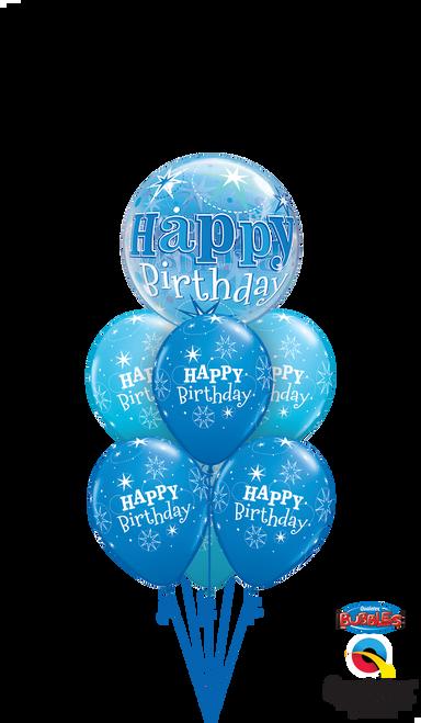 Blue Starburst Birthday Bouquet