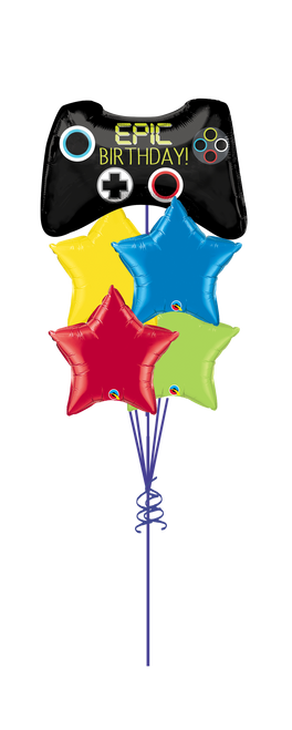 Epic Birthday Star Balloon Bouquet