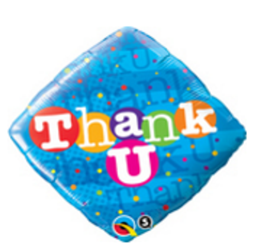 Thank U Colourful Dots Foil Balloon