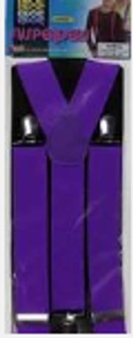 Purple neon suspenders