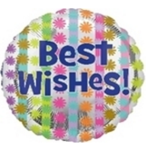 Bright Best Wishes Foil Balloon