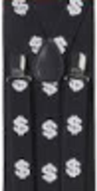Dollar sign suspenders