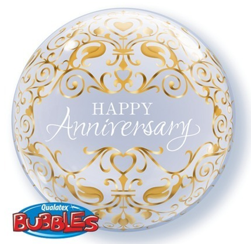 Anniversary Classic Gold Bubble Balloon