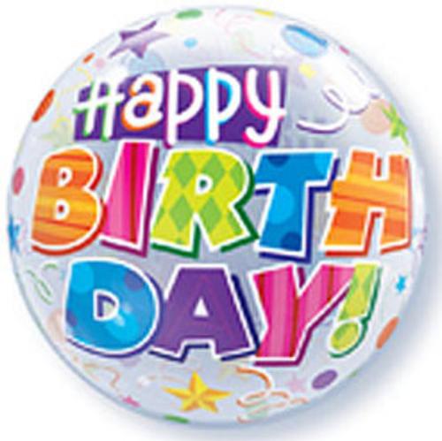 Birthday Party Patterns Bubble Balloon