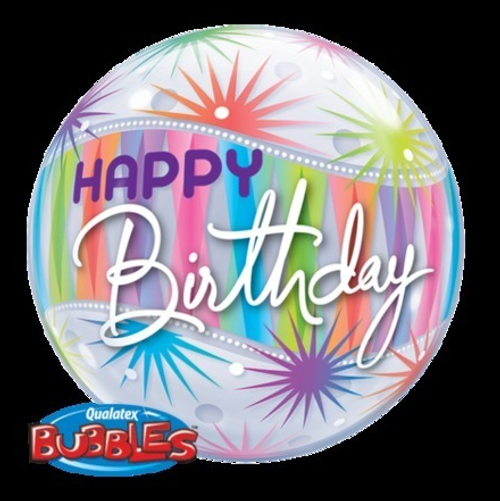 Birthday Sorbent Starblast Bubble Balloon