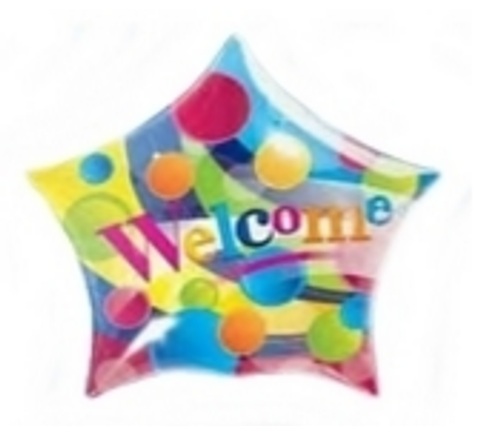 Welcome Big Dots Star Bubble Balloon