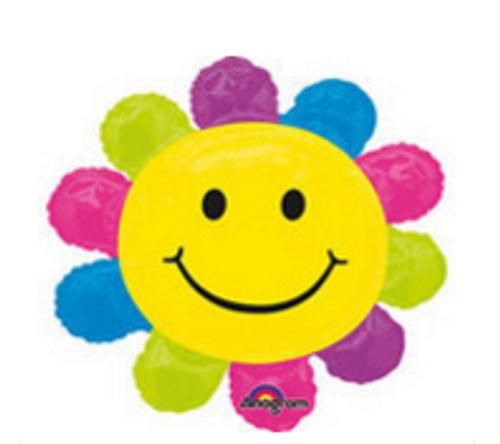 Happy Face Daisy Foil Balloon Shape
